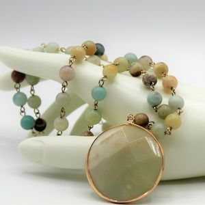 Hala M Jewelry, Amazonite Y necklace